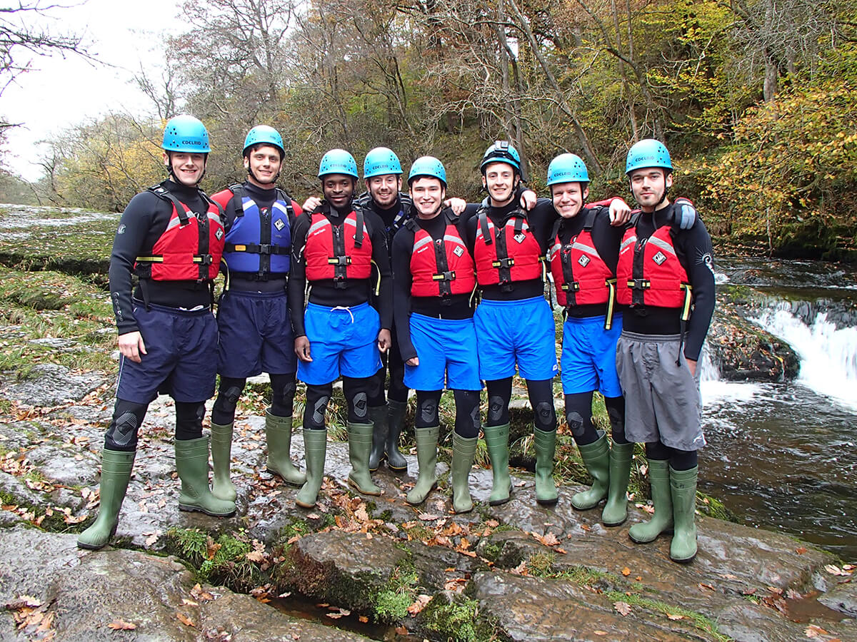 A group before they go Canyoning