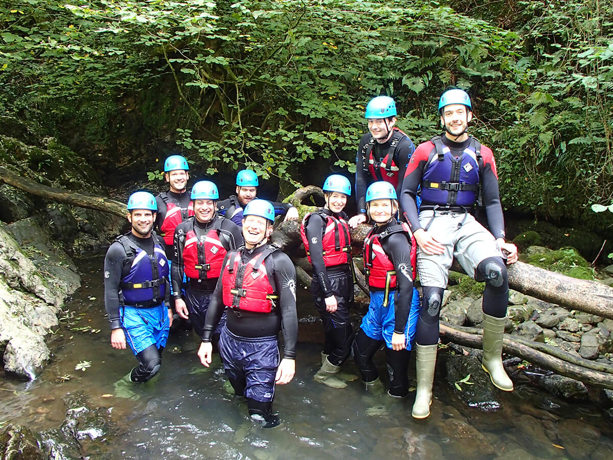 Gorge Walking Adventure in the Brecon Beacons