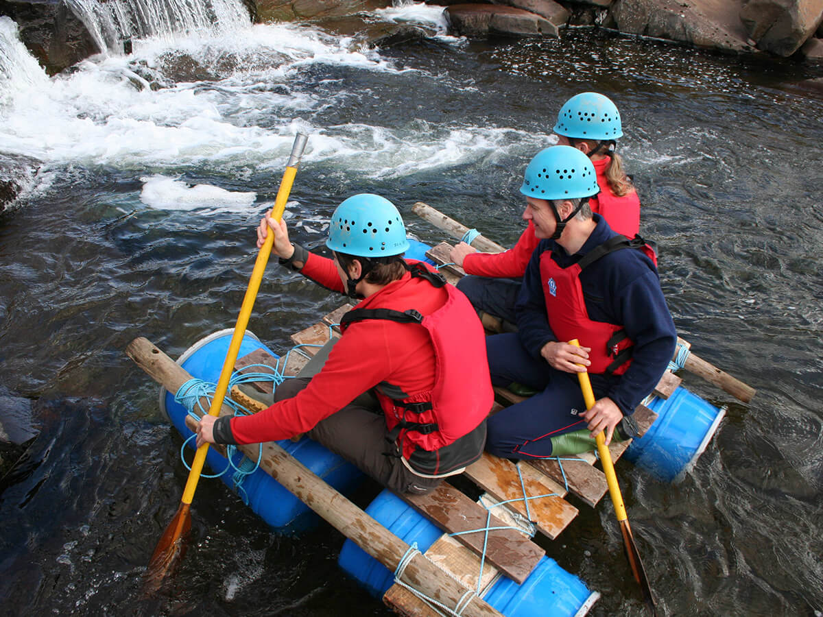 Raft Building in the Brecon Beacons
