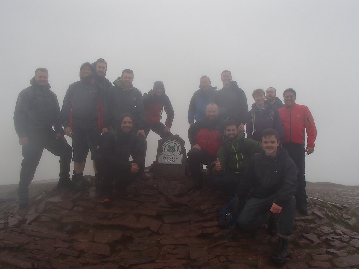 A mist summit of Pen Y Fan