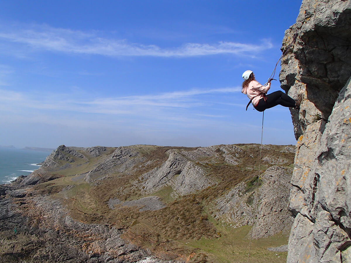 Abseiling Gower