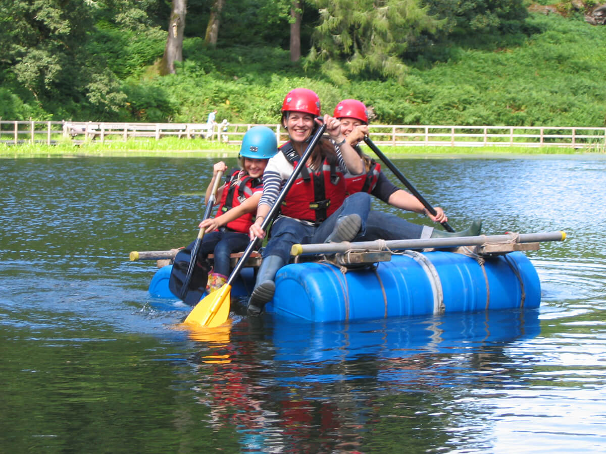 Raft Building in South Wales