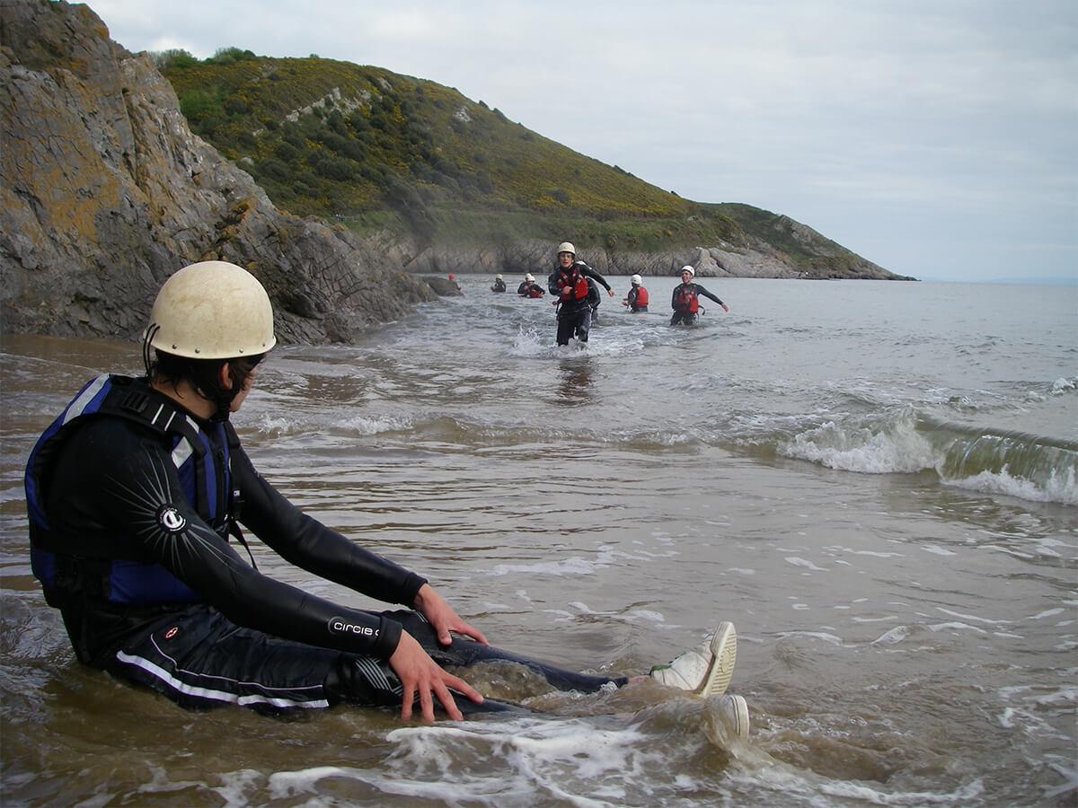 Coasteering Caswell Bay