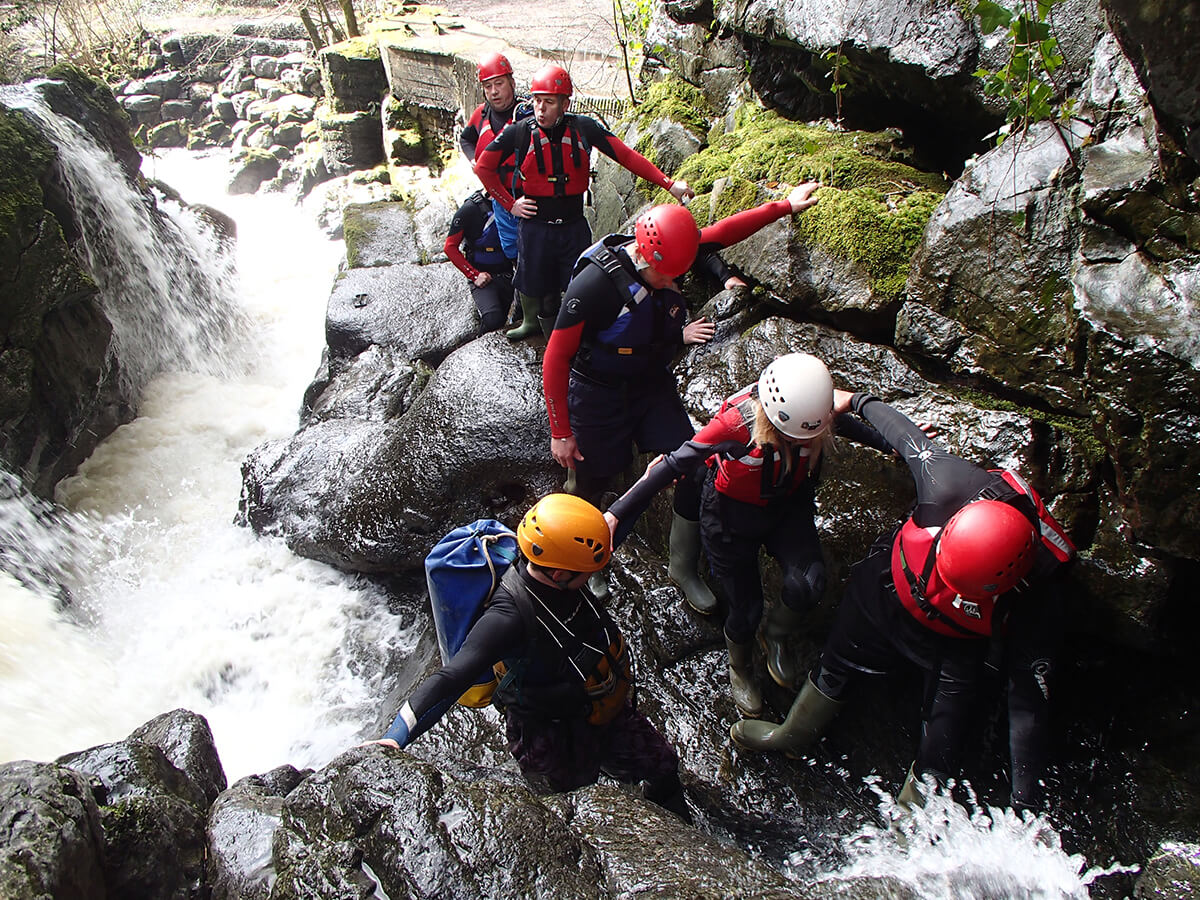 Gorge scrambling in the Brecon Beacons