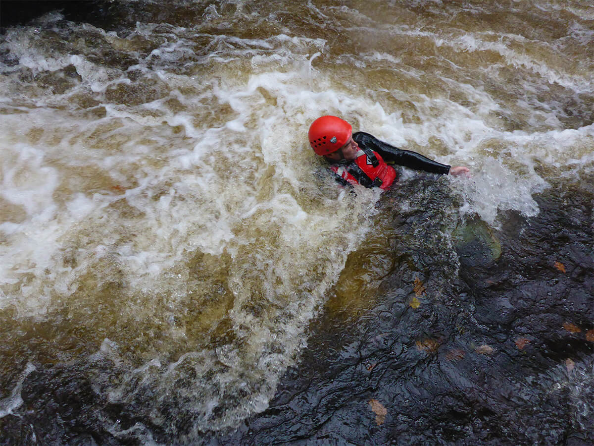 Swimming while Canyoning