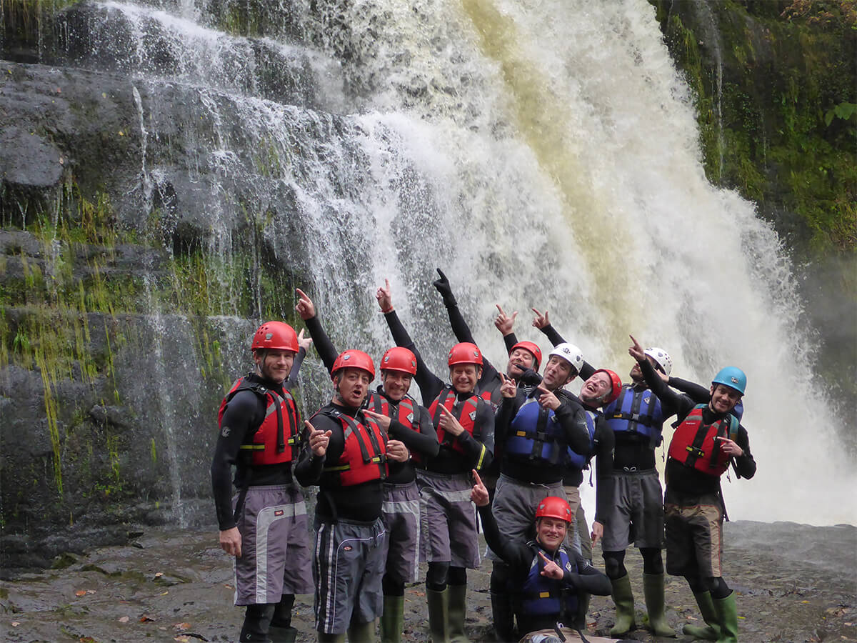 Very Happy Group Canyoning