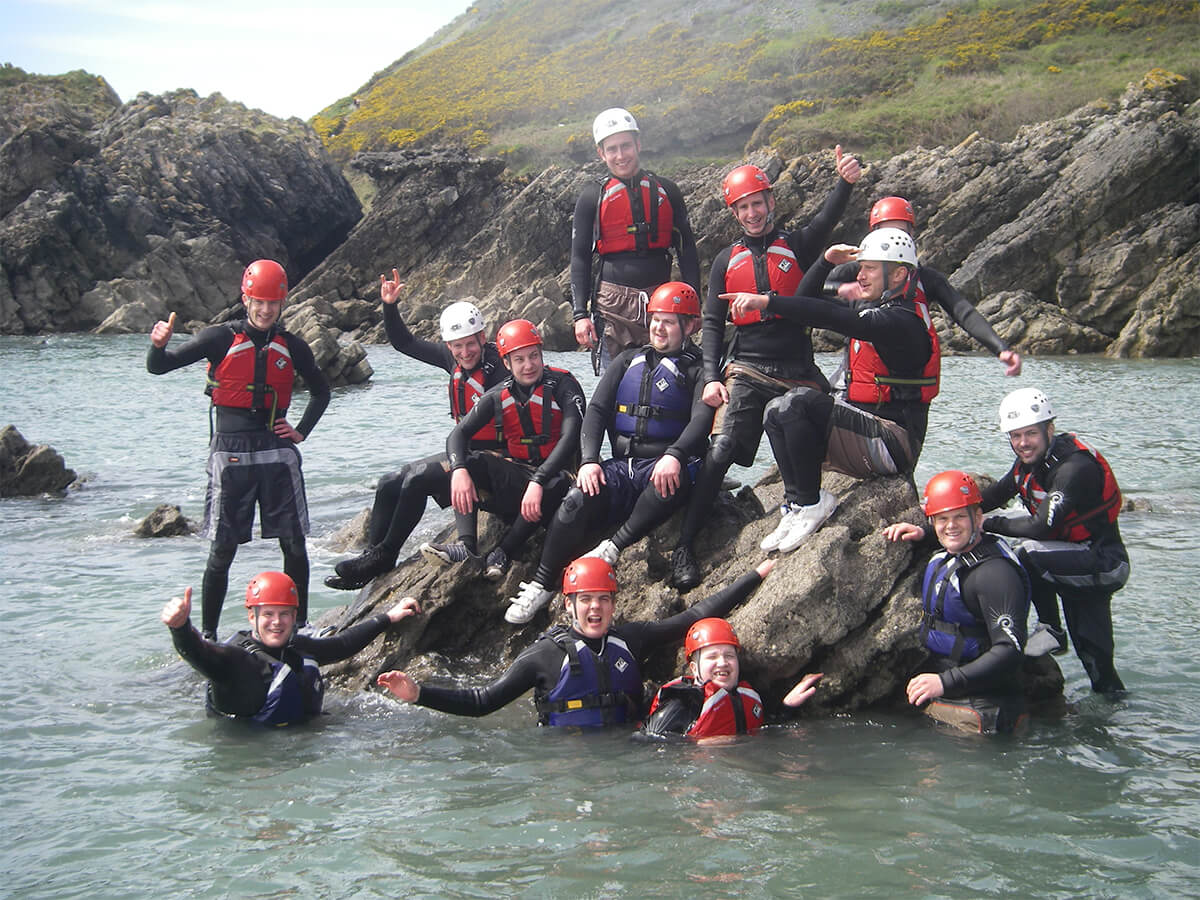 Coasteering on the Gower, Swansea