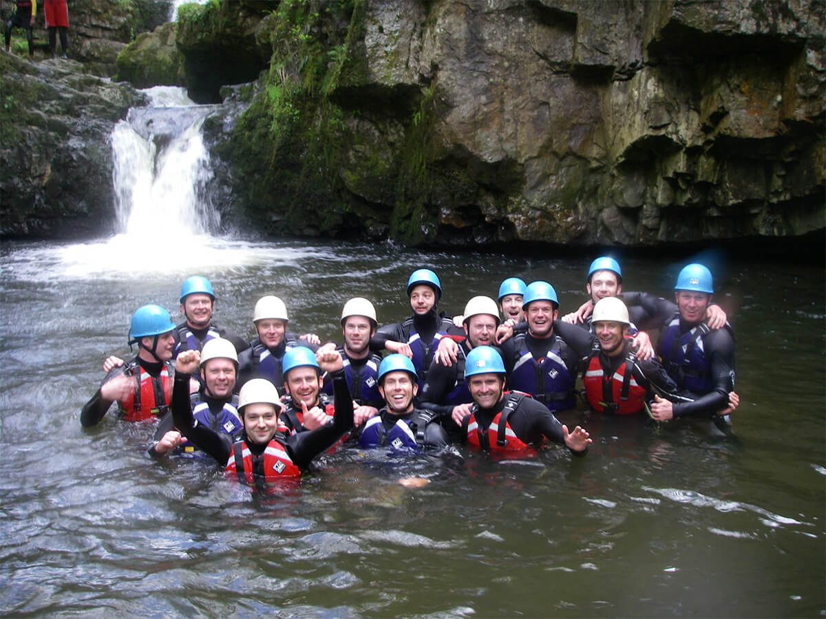 Happy Group Gorge Walking