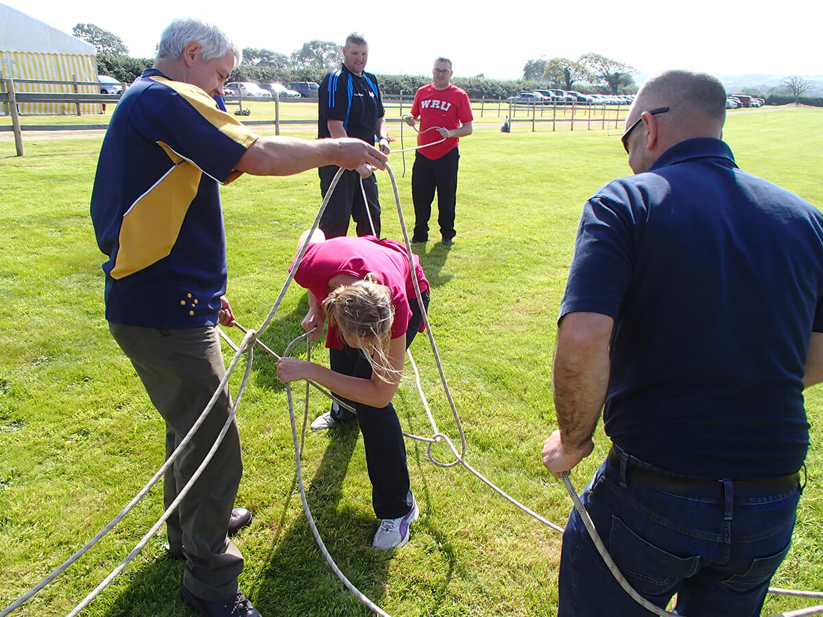 Getting caught up in a knot while Team Building