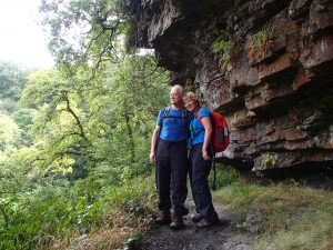 A couple on a Guided Walk in the Brecon Beacons