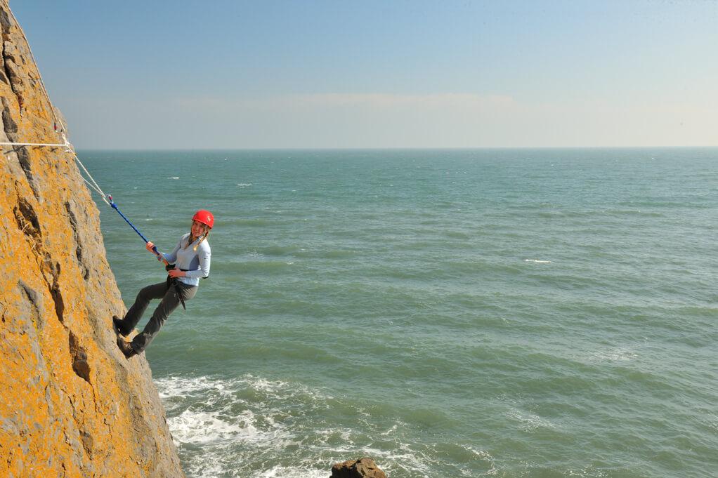 Sea climbing adventure