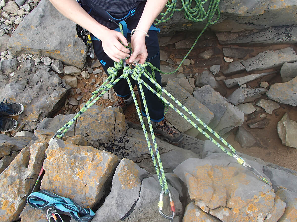 Rock Climbing rope work