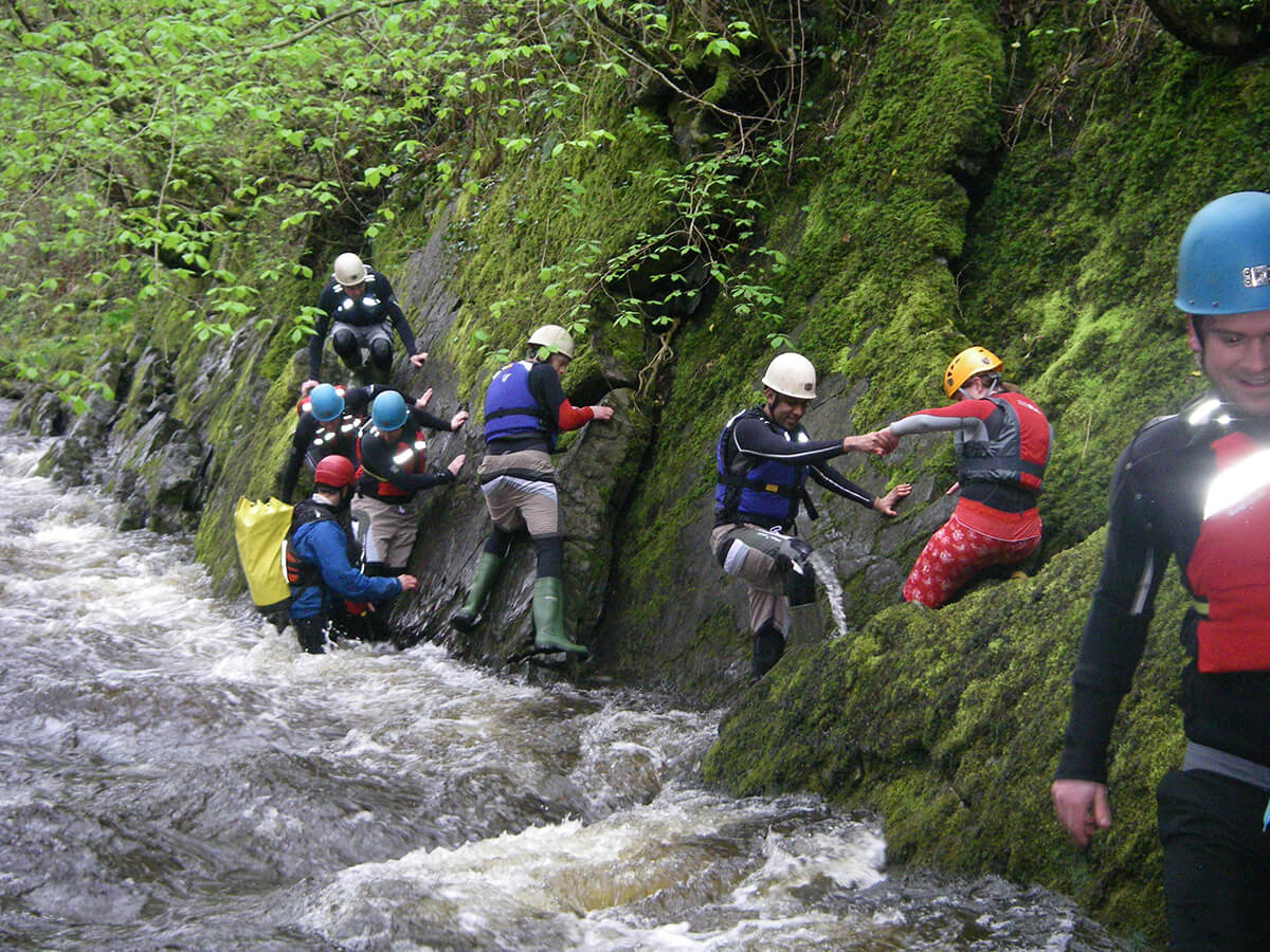 Team work in the Gorge