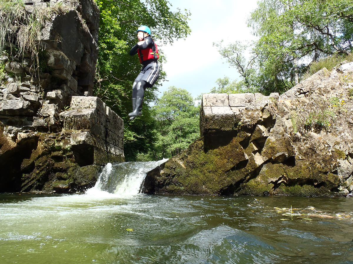 Jumping in during a Gorge Walk