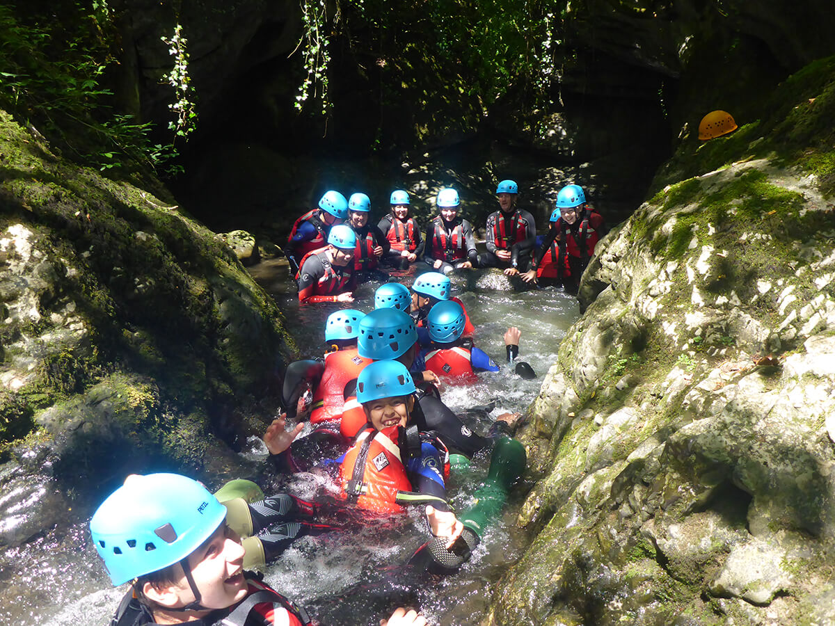Group of children in the Gorge