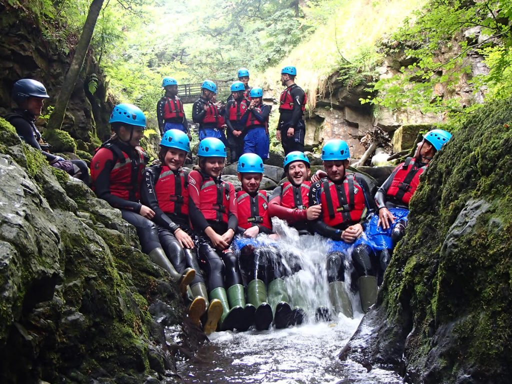 Group in the Gorge