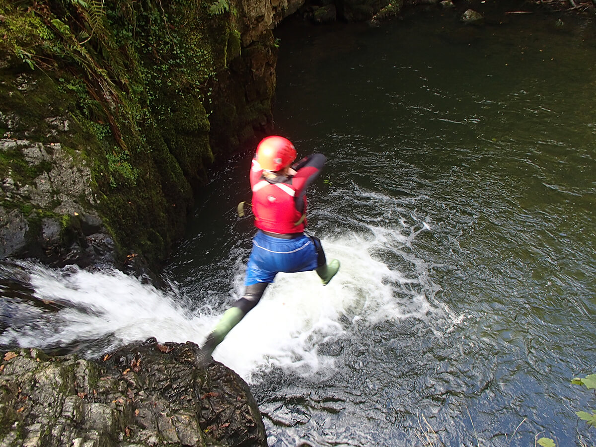 Jumping in the Gorge