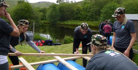Team Building Raft Building